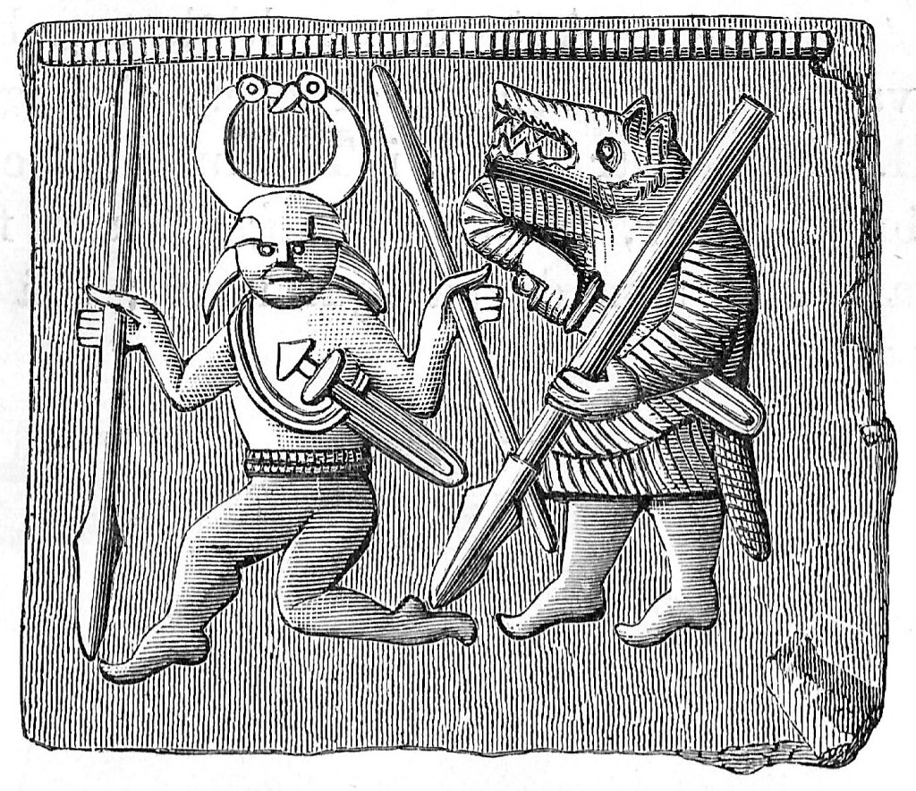 Gravat d'una placa de bronze de l'era Vendel descoberta a Öland, Suècia