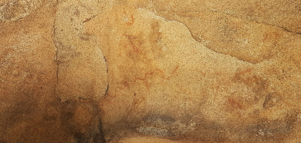 Pintures rupestres de la Pedra de les Orenetes (o el que en queda d'elles després del pas de l'home modern)