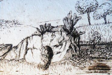 Cova del Drac, dibuixada per Francesc Aguilar el 1931
