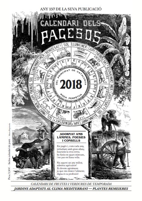 Calendari dels pagesos, 2018