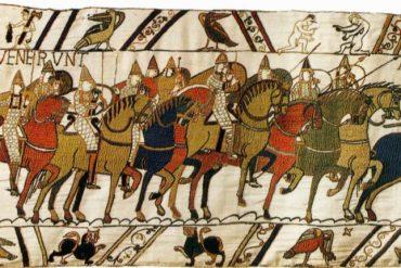 Els cavallers normands del duc Guillem el Conqueridor. Al Tapís de Bayeux, de 1066