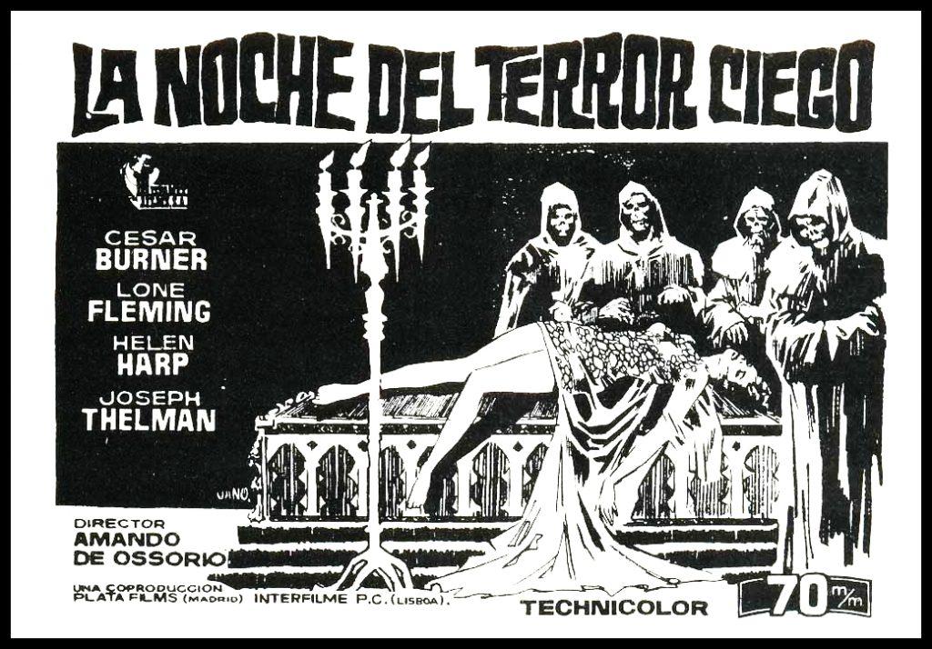 La noche del terror ciego (1972), d'Amando d'Ossorio.
