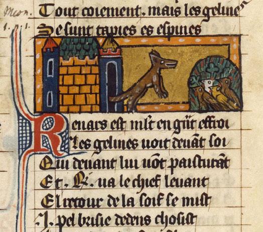 Pàgina del fabliau francès del Roman de Renart